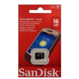 SanDisk 16GB Class 4 MicroSD Memory Card