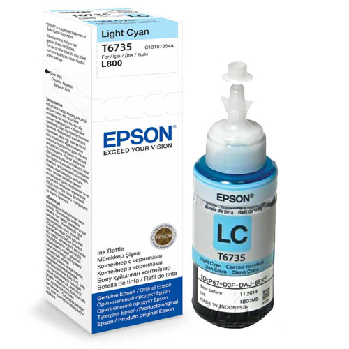 Epson T6735 Light Cyan 70ml Ink Bottle