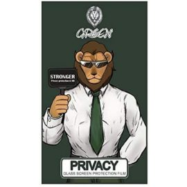 green privacy screen protector